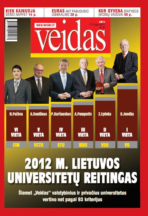 Lietuvos universitetų reitingas 2012